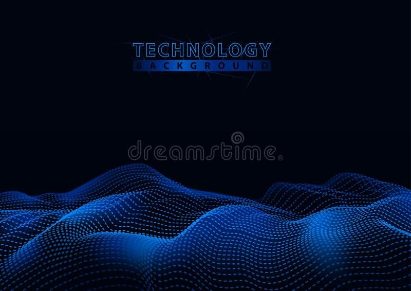Fondo de la tecnología con las partículas de conexión stock de ilustración