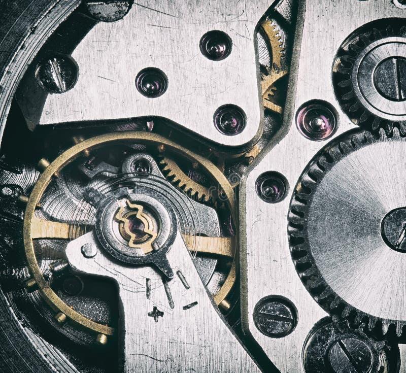 fondo de la tecnología con los engranajes y las ruedas dentadas del metal fotografía de archivo libre de regalías