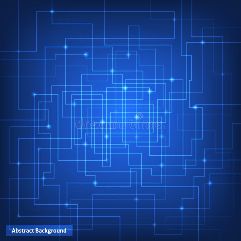 Fondo de la tecnología de circuito virtual libre illustration