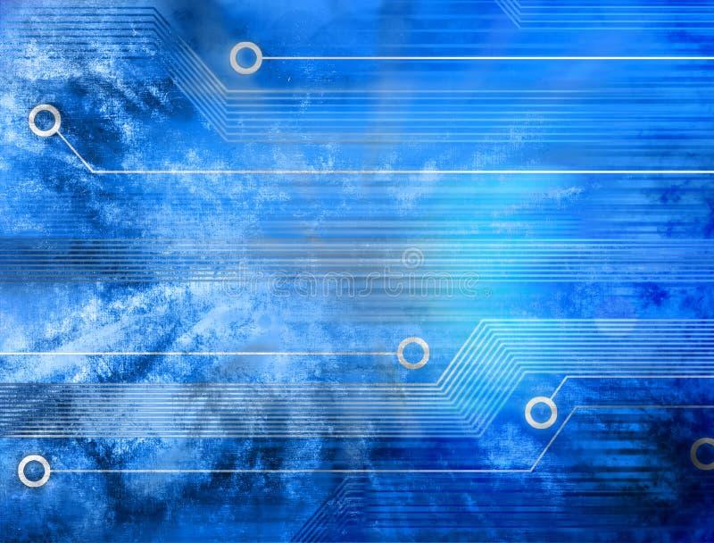 Fondo de la tecnología de Grunge Digital ilustración del vector