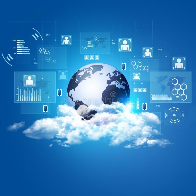 Fondo de la tecnología de la nube del concepto ilustración del vector