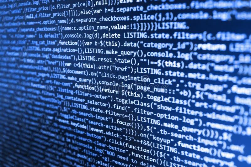 Fondo de la tecnología Tecnología moderna El corregir del código de los dígitos binarios Edificio móvil del app fotografía de archivo