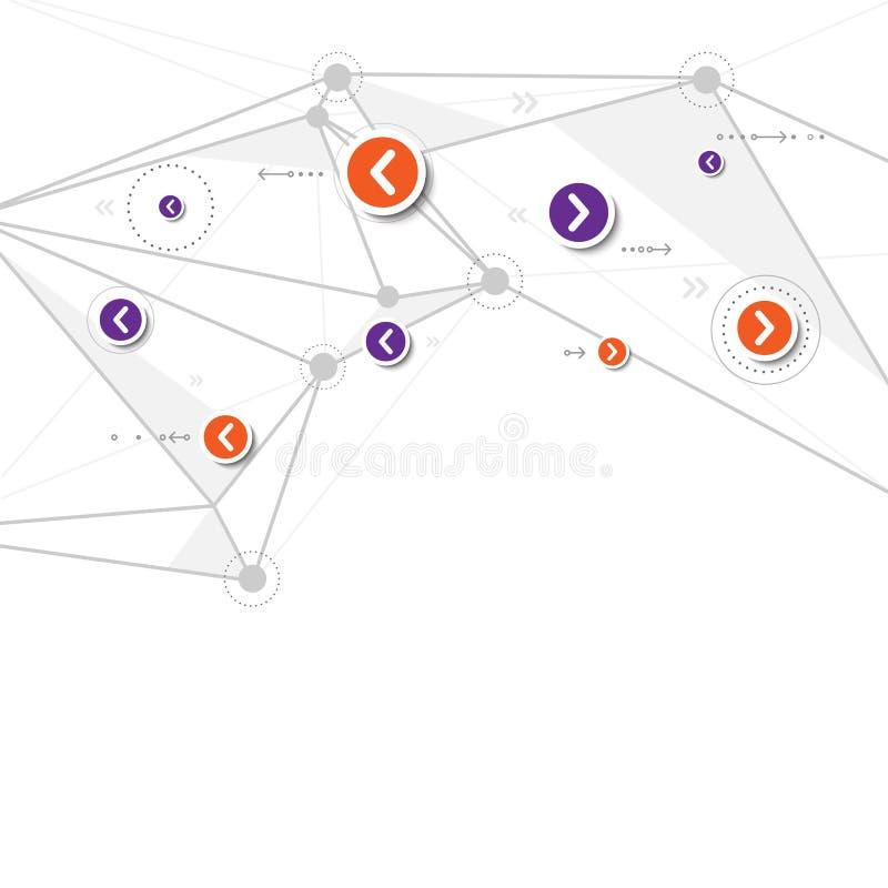 Fondo de la tecnología de red del vector, abstrac del polígono de la conexión libre illustration
