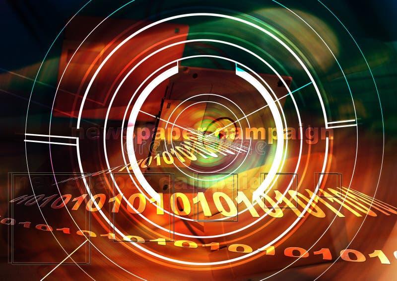 Fondo de la tecnología. Tecnología electrónica biomédica foto de archivo libre de regalías