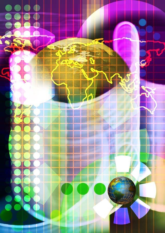 Fondo de la tecnología. Tecnología electrónica biomédica stock de ilustración