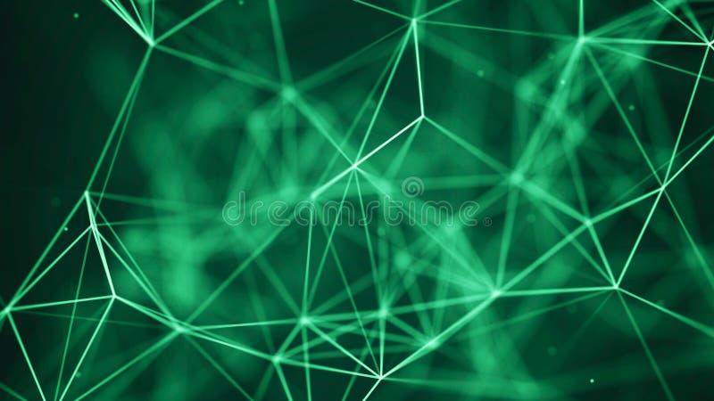 Fondo de la tecnolog?a de los datos Visualizaci?n grande de los datos Dots And Lines de conexi?n Fondo de la ciencia representaci stock de ilustración