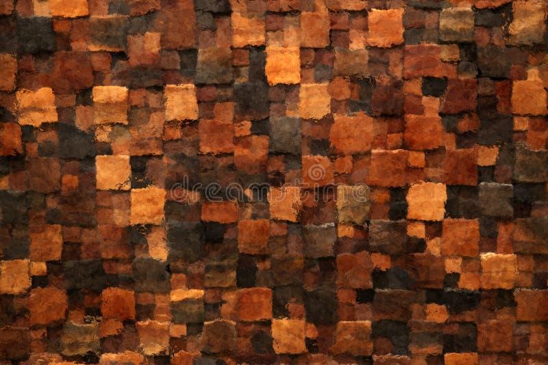 Fondo de la teja de mosaico de Brown stock de ilustración