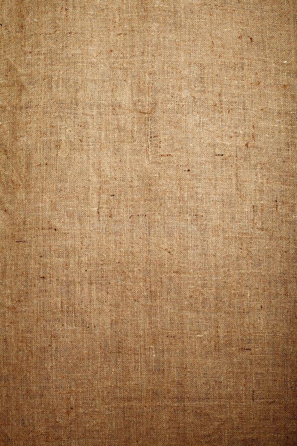 Fondo de la tela de la arpillera imagen de archivo