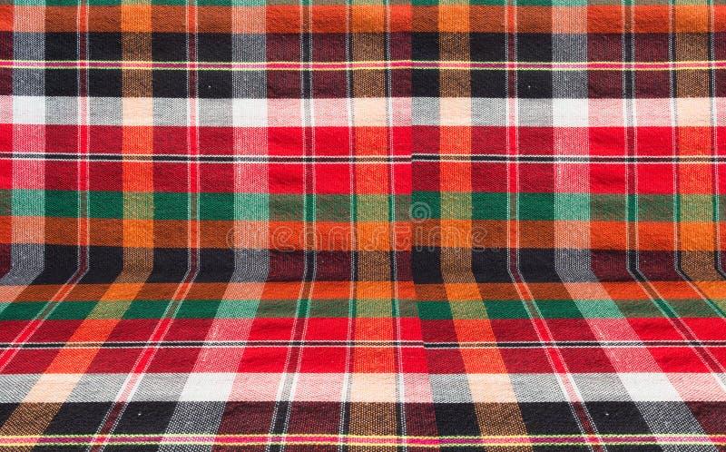 Fondo de la tela de la tela escocesa o del taparrabos fotos de archivo libres de regalías