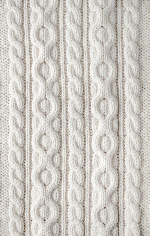 Fondo de la tela del tejido en cable fotografía de archivo libre de regalías