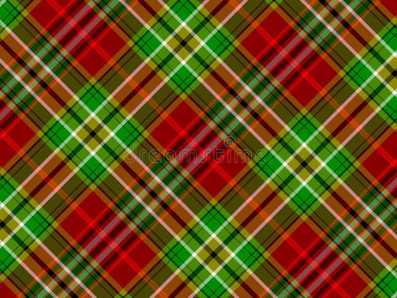 Fondo de la tela escocesa ilustración del vector