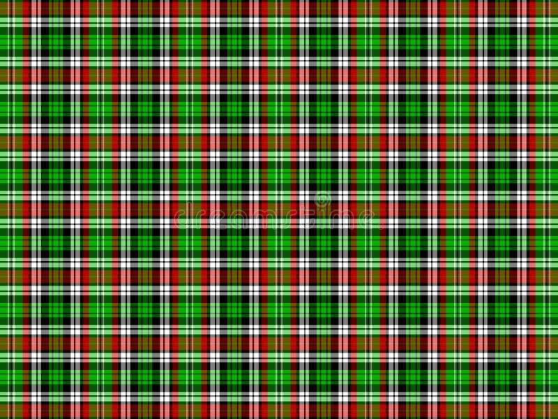 Fondo de la tela escocesa stock de ilustración