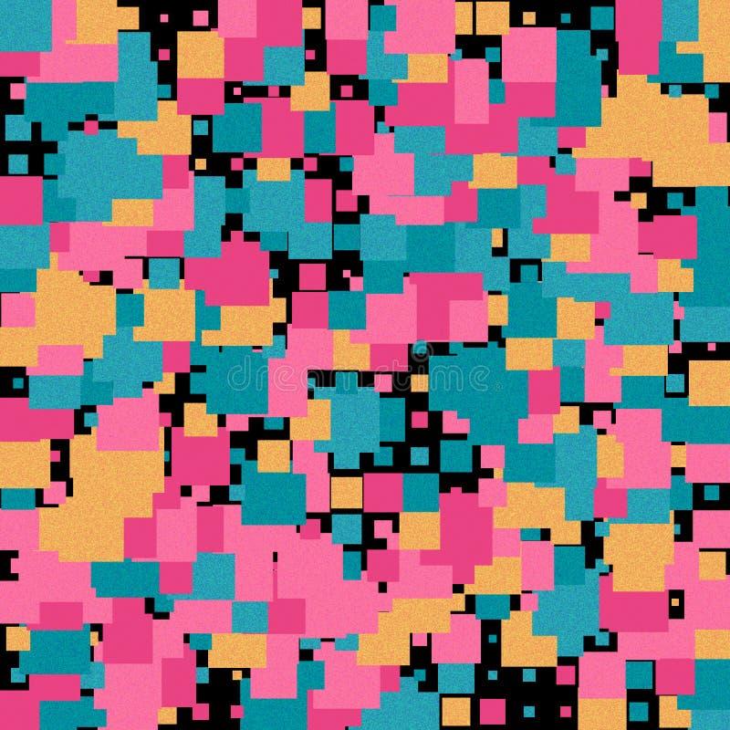 Fondo de la textura abstracta con los cuadrados stock de ilustración