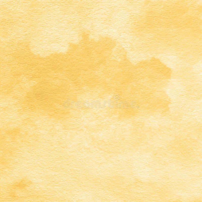 Fondo de la textura de la acuarela del oro amarillo, pintado a mano ilustración del vector