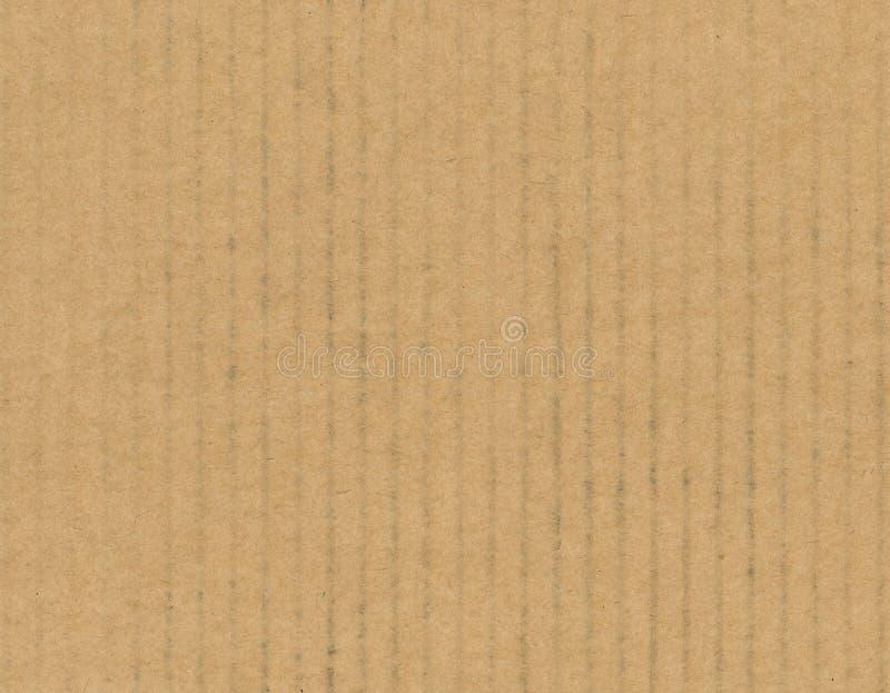 Fondo de la textura de la cartulina acanalada de Brown imagen de archivo