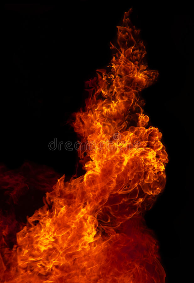 Fondo de la textura de la llama del fuego foto de archivo
