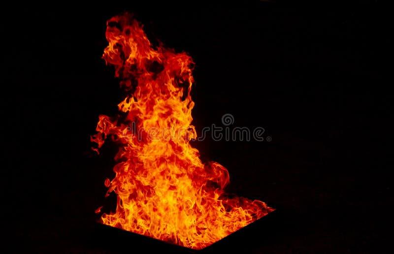 Fondo de la textura de la llama del fuego imágenes de archivo libres de regalías