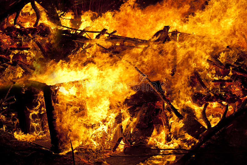 Fondo de la textura de la llama del fuego del resplandor foto de archivo libre de regalías