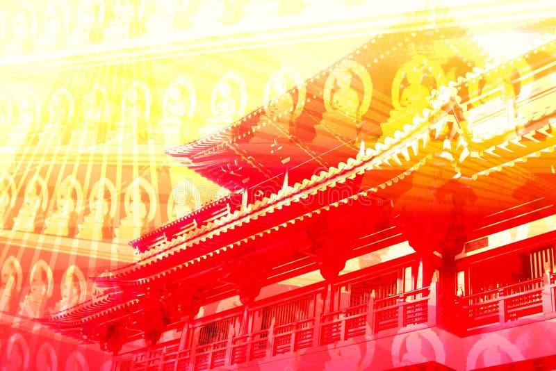Fondo de la textura del collage del recorrido de Asia libre illustration