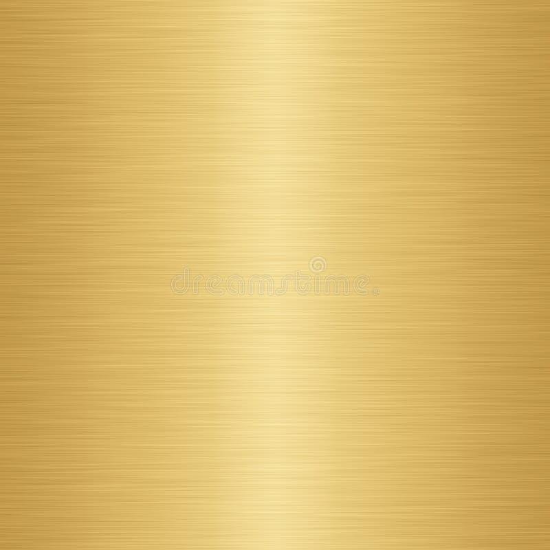 fondo de la textura del metal del oro ilustración del vector