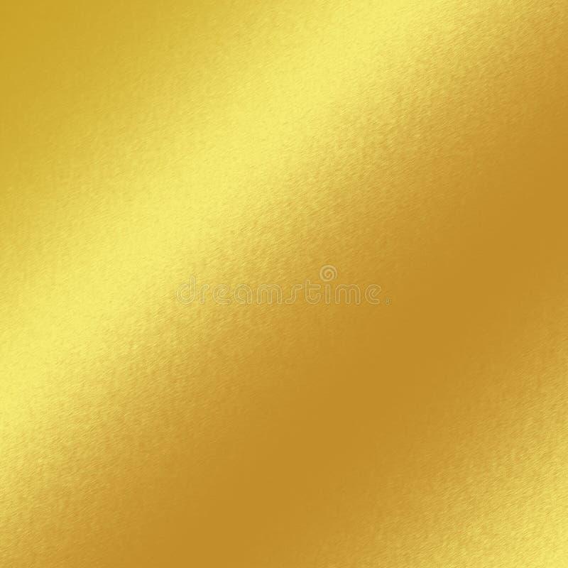 Fondo de la textura del metal del oro con la línea oblicua de luz ilustración del vector