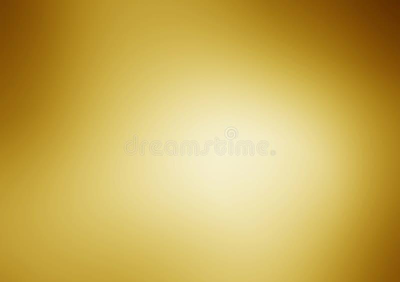 Fondo de la textura del metal del oro con los haces de luz horizontales foto de archivo libre de regalías
