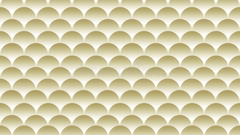 Fondo de la textura del oro y del blanco, papel pintado ilustración del vector