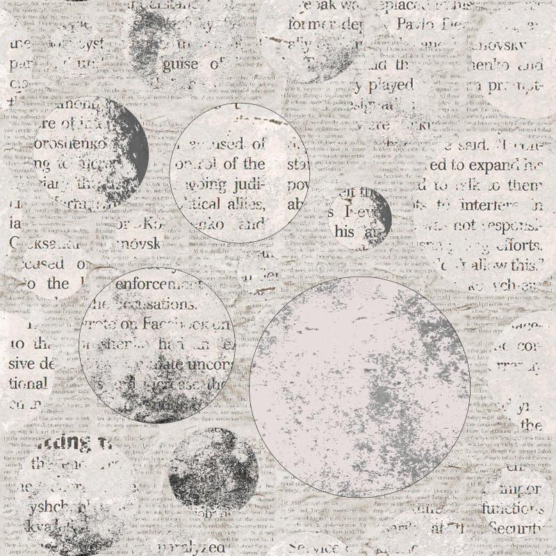 Fondo de la textura del periódico del vintage ilustración del vector