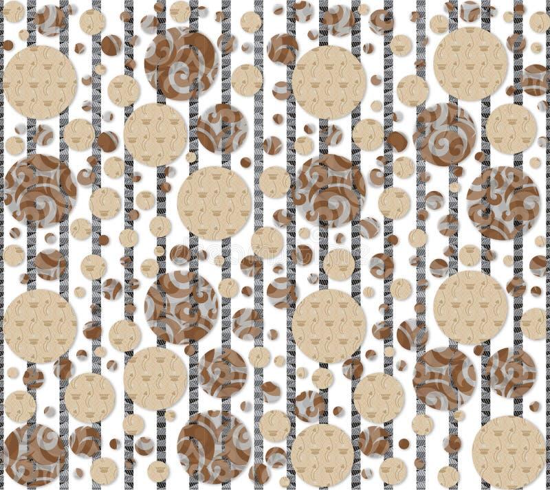 Fondo de la textura del vector y modelo de la materia textil stock de ilustración