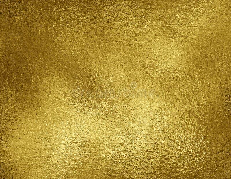 Fondo de la textura de la hoja de oro Material metálico de oro co del Grunge ilustración del vector