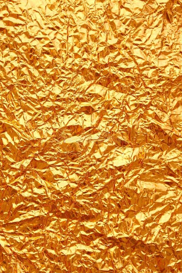 Fondo de la textura de la hoja de oro foto de archivo