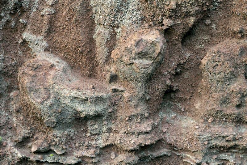 Fondo de la textura de piedra del color marr?n del origen volc?nico foto de archivo