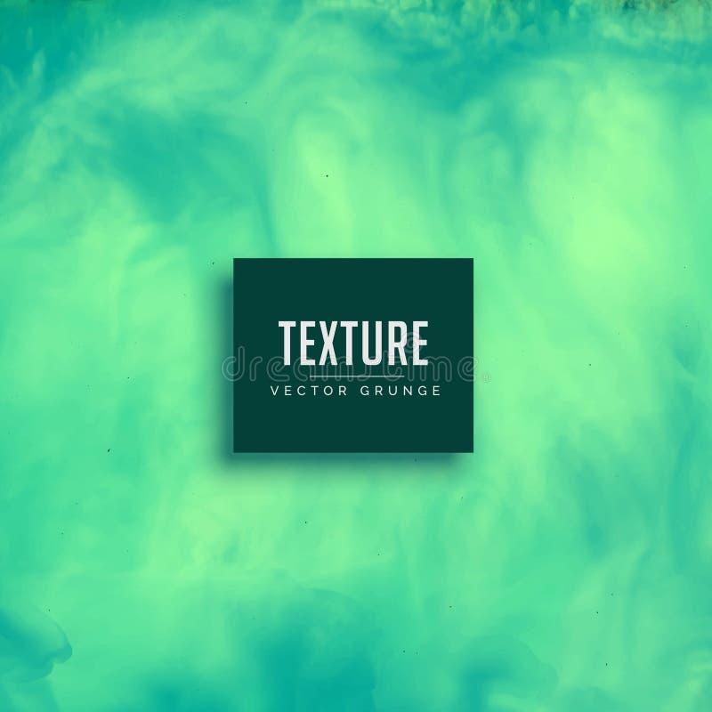 Fondo de la textura de la tinta de la acuarela de la turquesa que fluye libre illustration