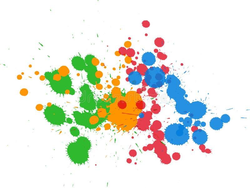 Fondo de la tinta de Grunge ilustración del vector