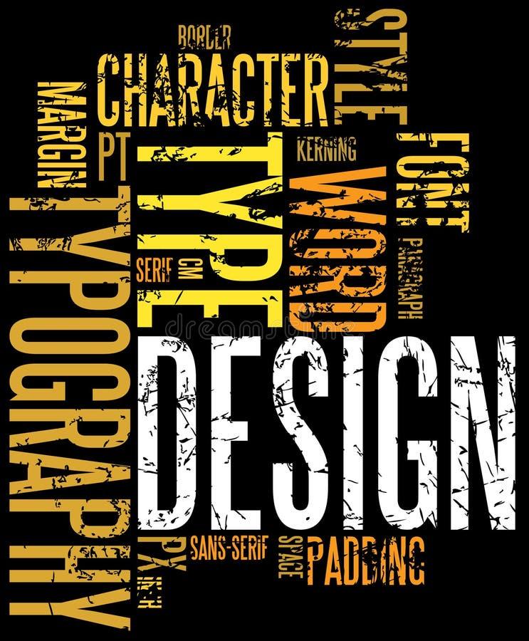 Fondo de la tipografía de Grunge stock de ilustración