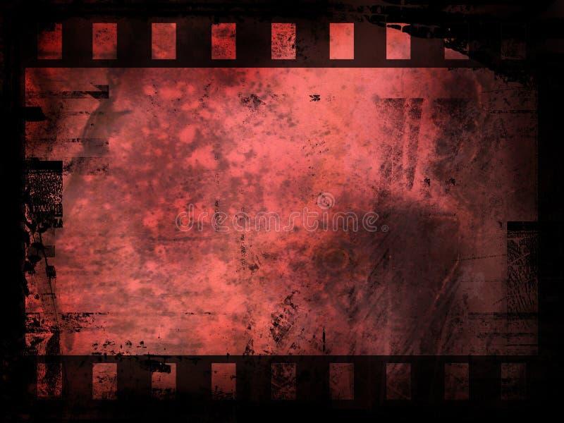 Fondo de la tira de la película abstracta stock de ilustración