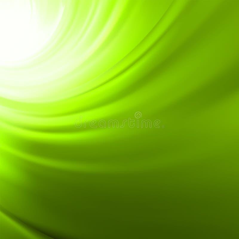 Fondo de la torcedura con flujo verde. EPS 8 ilustración del vector