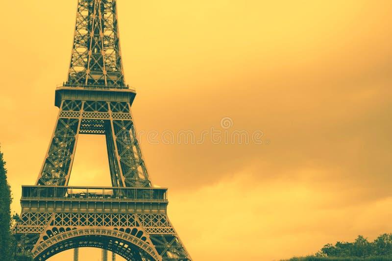 Fondo de la torre Eiffel de Francia imágenes de archivo libres de regalías