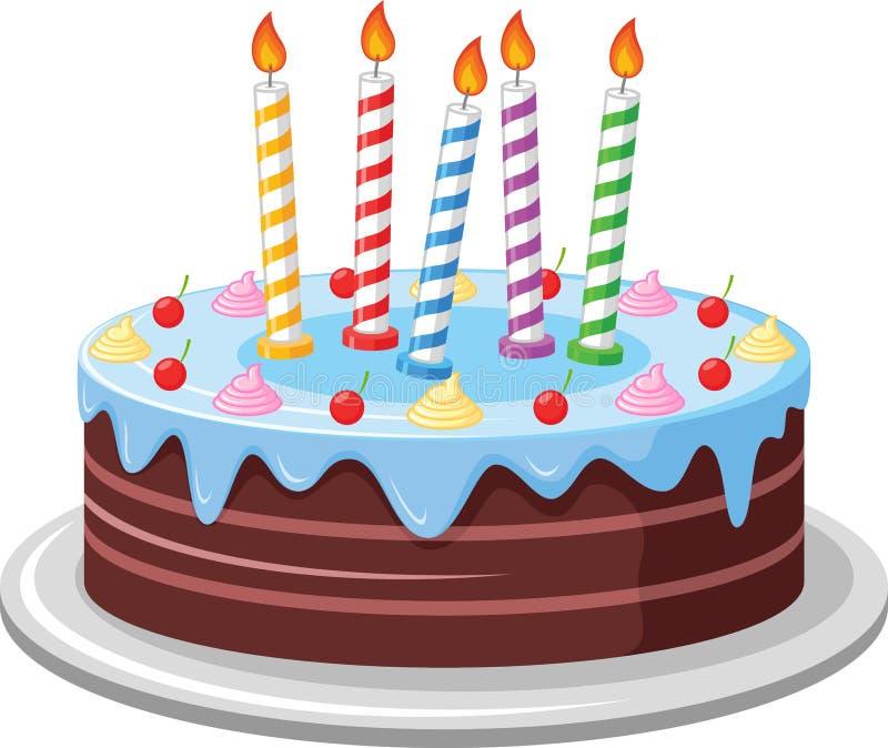 Fondo de la torta de cumpleaños stock de ilustración