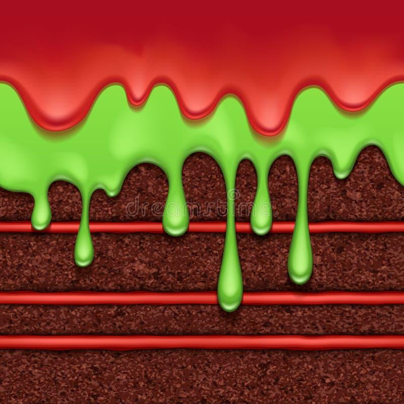 Fondo de la torta de esponja del chocolate Textura inconsútil colorida libre illustration