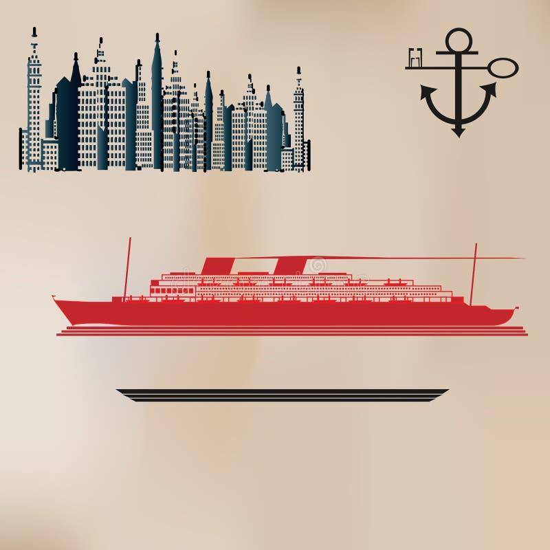Download Fondo De La Travesía De La Vendimia Ilustración del Vector - Ilustración de estilo, elegante: 7279393