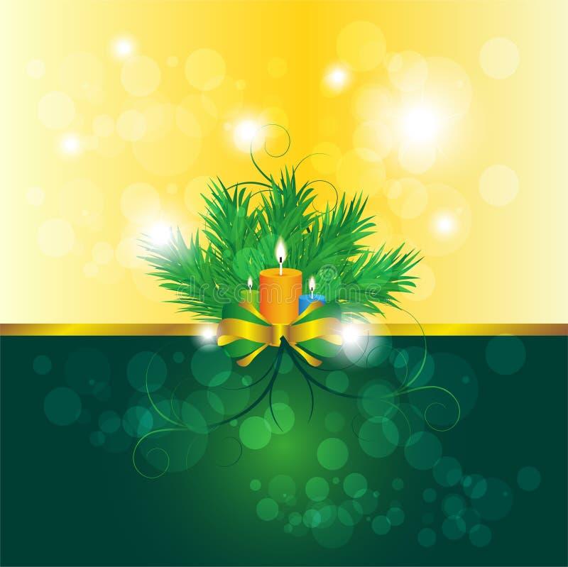 Fondo de la vela de la Navidad stock de ilustración