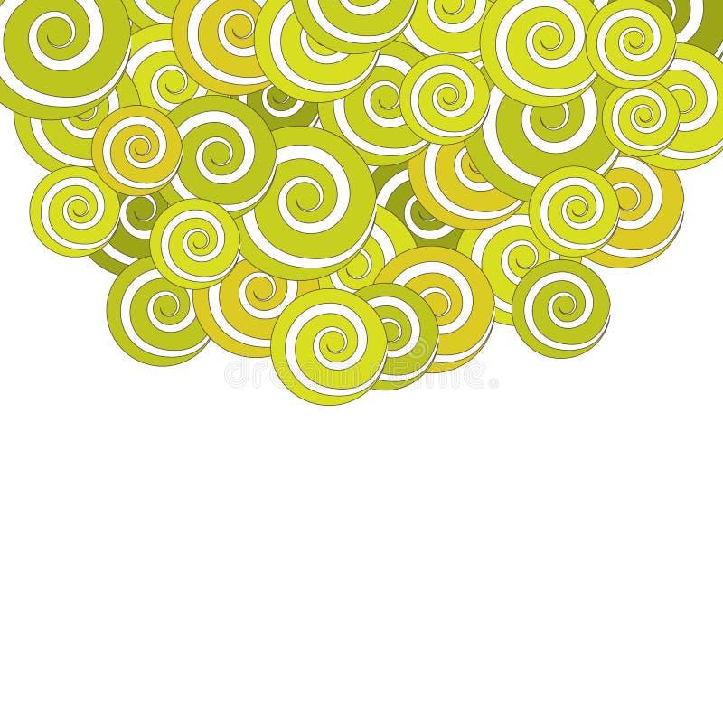 Fondo de la vendimia con las flores en colores pastel ilustración del vector