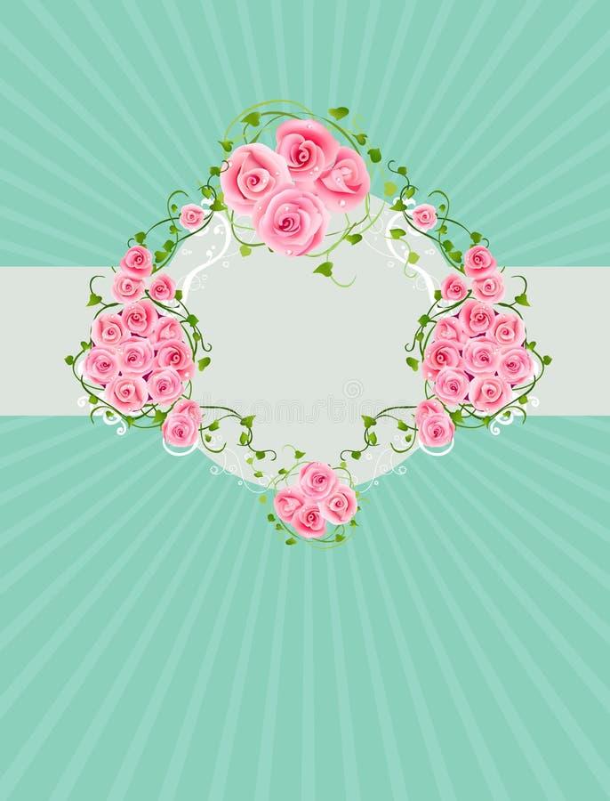 Fondo de la vendimia con las rosas hermosas libre illustration