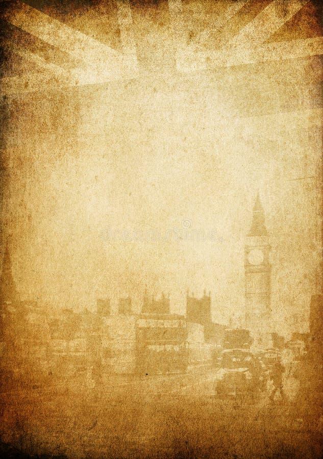 Fondo de la vendimia de Grunge. Tema de Londres. libre illustration