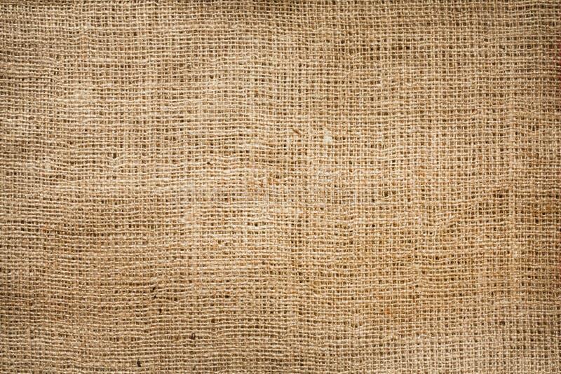 Fondo de la vendimia de la lona del yute de la arpillera imagen de archivo libre de regalías