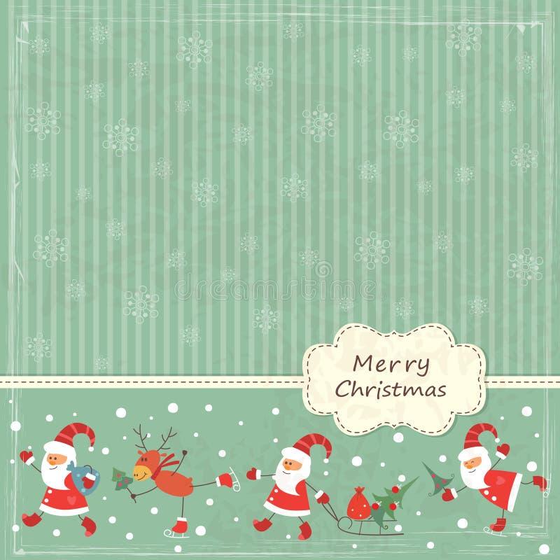 Fondo de la vendimia de la Navidad stock de ilustración