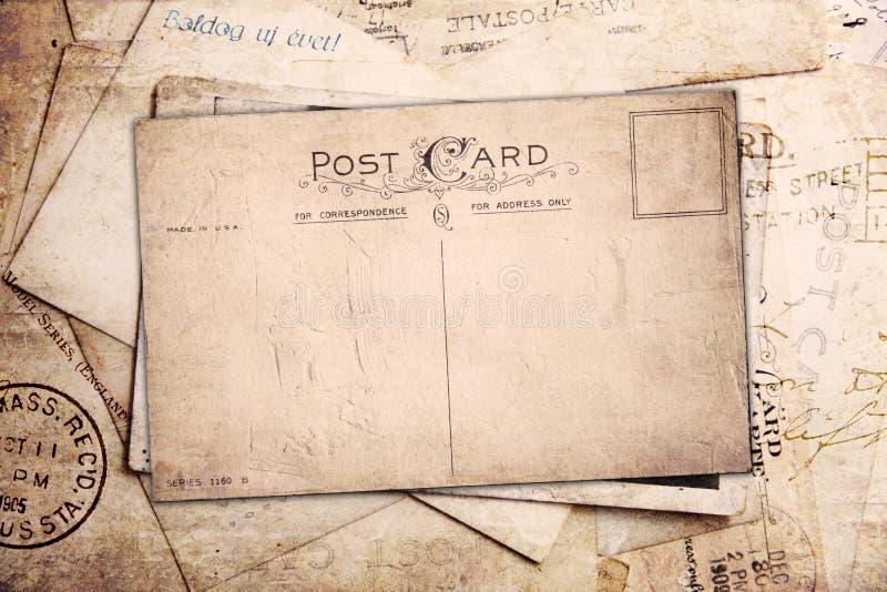 Fondo de la vendimia de las postales viejas imagen de archivo