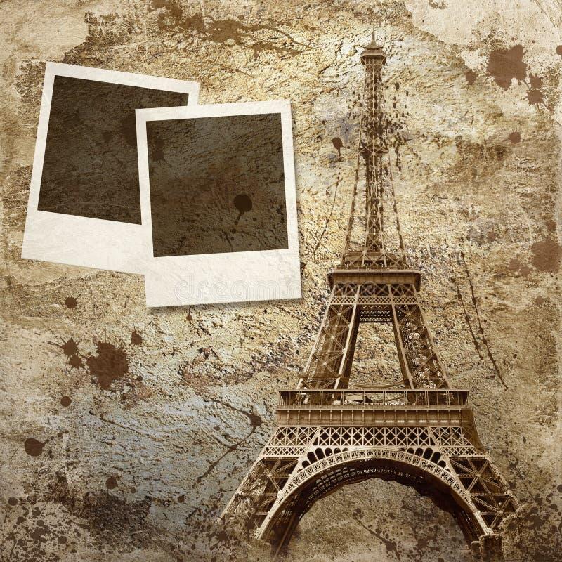Fondo de la vendimia de París stock de ilustración