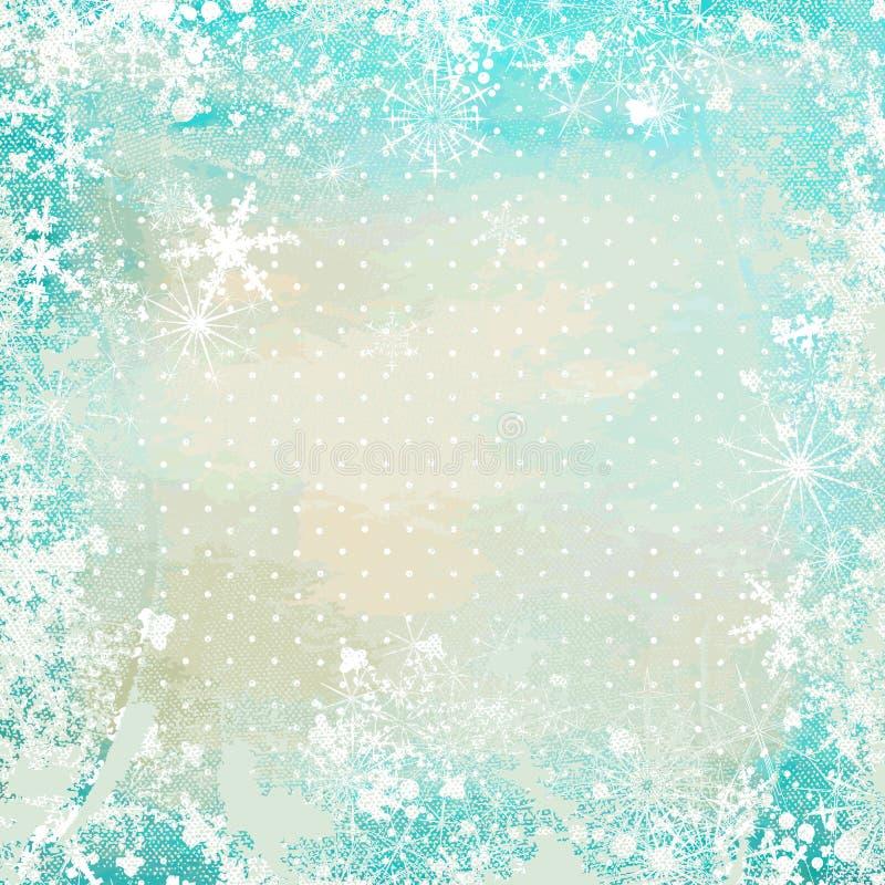 Fondo de la vendimia del invierno ilustración del vector
